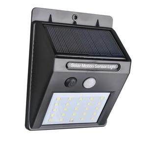 Solar Security LED Night Light for Home Outdoor/Garden Wall (Black) (20-LED Lights)