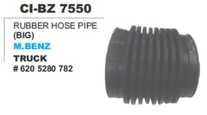 Rubber Hose Pipe M Benz Truck