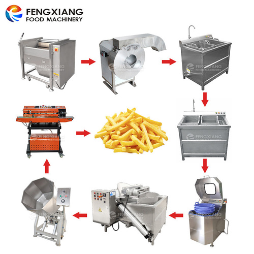 SemFrench Fries Making Machine Potato Chip Production Line
