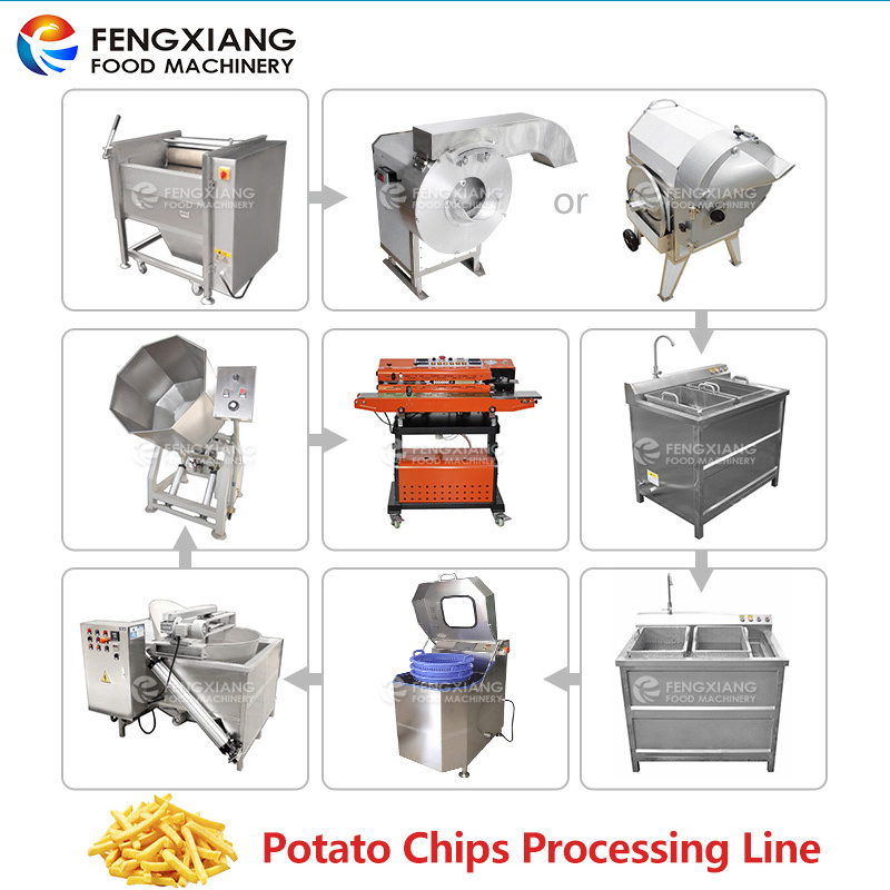 SemFrench Fries Making Machine Potato Chip Production Line