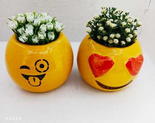 Emoji ball planter