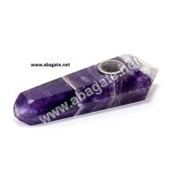 Amethyst Crystal Smoking Pipe