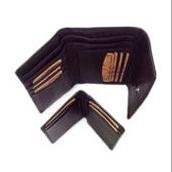 Black Ladies Wallet Plus ID-Case