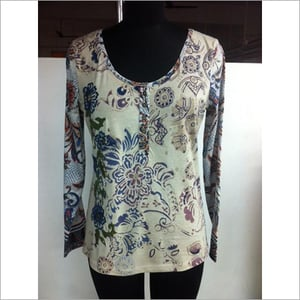 Floral Embroidered Tops