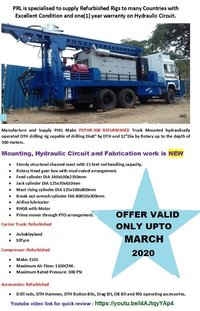 PDHTR-300  Ashok Leyland Truck Mounted Drill Rig