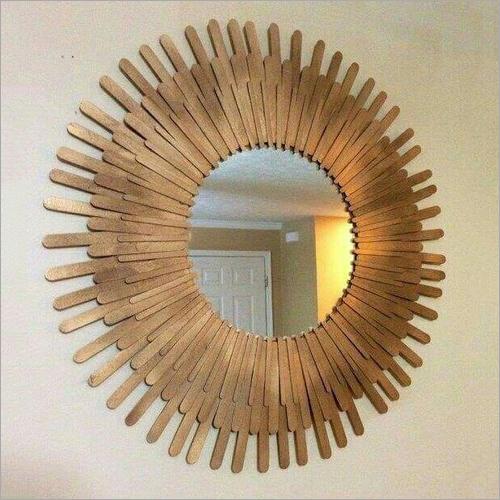 Wooden Designer Mirror