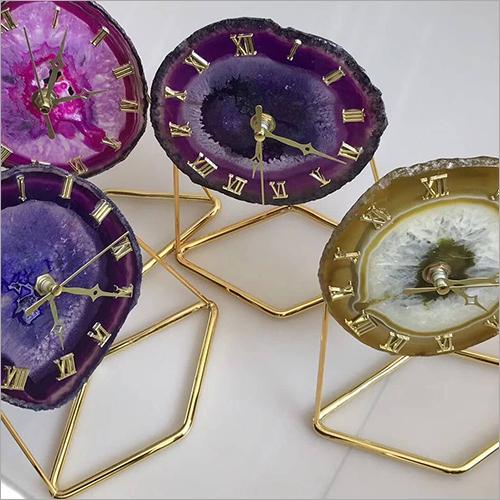 Decorative Agate Clock