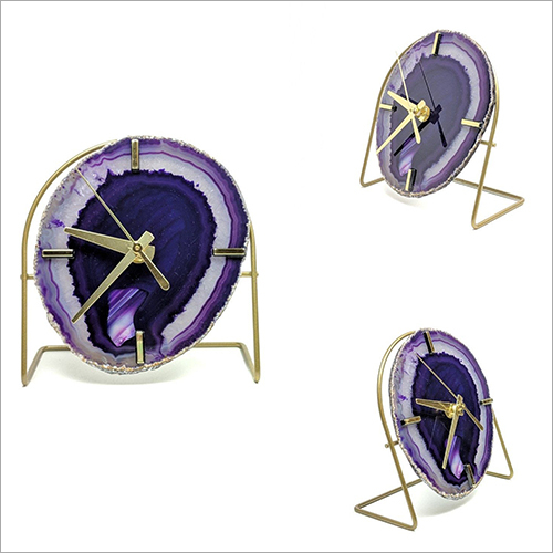 Purple Agate Clock