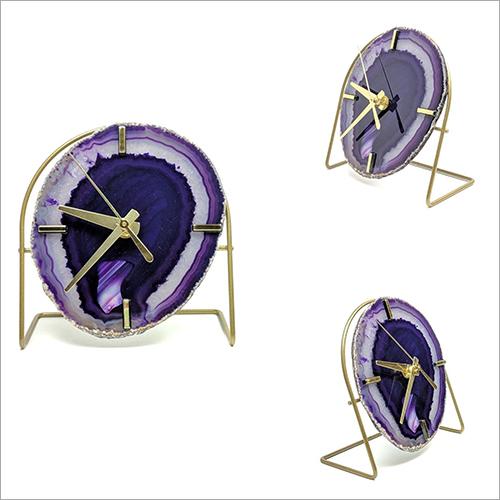 Purple Agate Clock