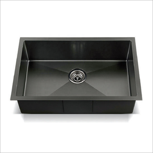 Black Matt Nano Technology Stainless Steel Single Bowl Sink
