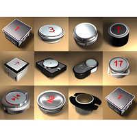 Elevator Contriol Panel Buttons Button