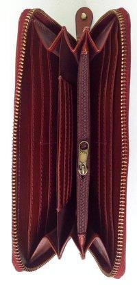 Metal Full-Zip Ladies Wallet