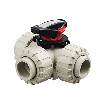 PPH 3 Way Ball Valve