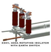 33kv 1250A Rotating Isolator With Earth Switch