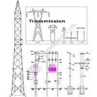 Hot Dip Galvanized Substation Structure