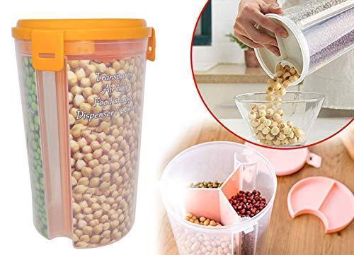 065 -3 in 1 Transparent Sealed Jars Plastic Storage Box