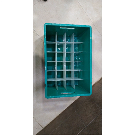 Plastic milk bottle crate