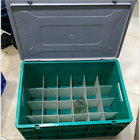 Plastic milk bottle crate