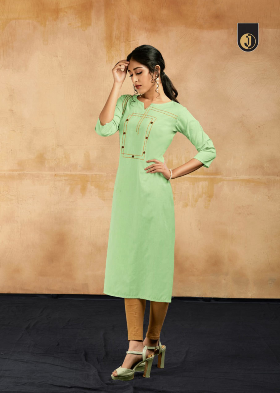 Cotton Designer Embroidery  Kurti