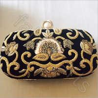Hand Embroidery Zardosi Purse