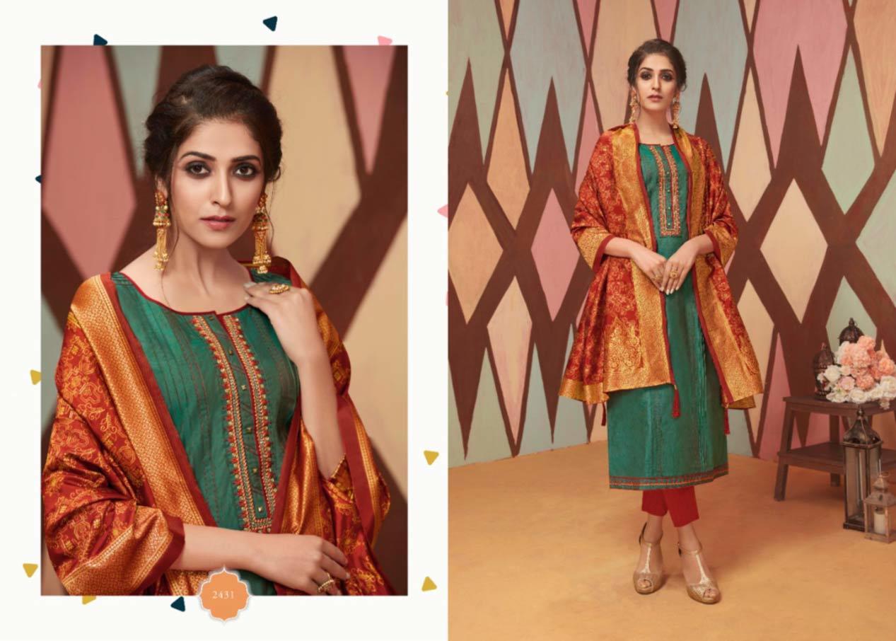 Fancy Silk with Work and Khatli Work