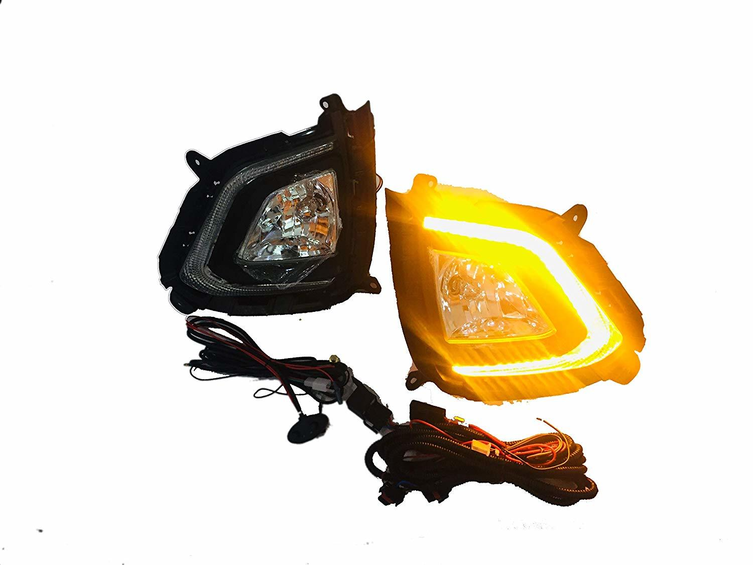 AUTOFASTERS Car Fog Lights with DRL For Hyundai Creta