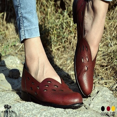 Casual genuine Leather flat lady Shoes