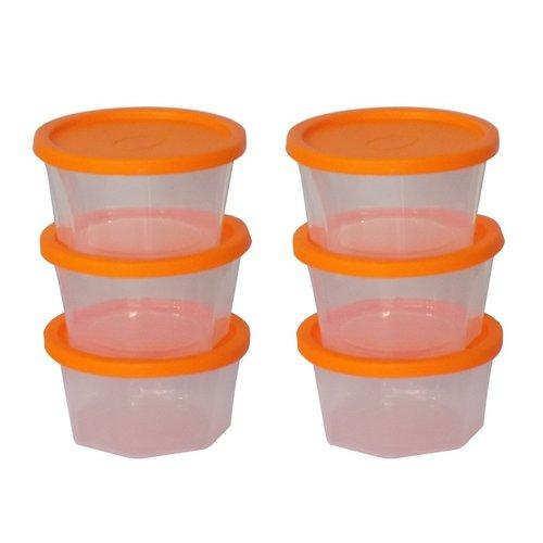 171 Plastic Container Set, 200ml, Set of 6