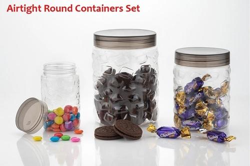 598 3pcs Stone Jars Set (Big 1200ml, Medium 600ml & Small 250ml size)