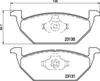 8DB 355 008-591 - Audi & Skoda FR Brake Pad