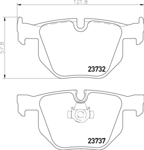 8DB 355 010-471 BMW RR Brake Pads