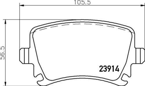 8DB 355 010-601 - Audi RR Brake Pad