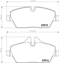 8DB 355 011-261 Mini Cooper FR Brake Pads