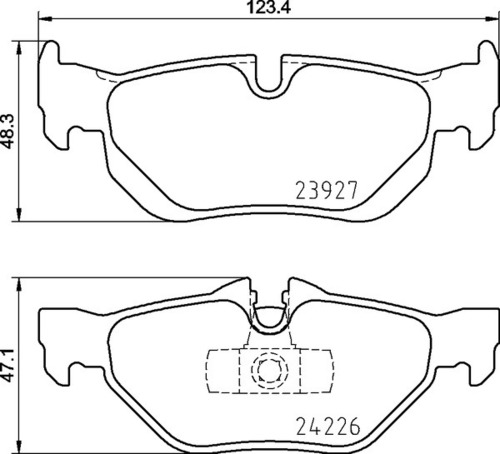 8DB 355 011-301 BMW RR Brake Pads