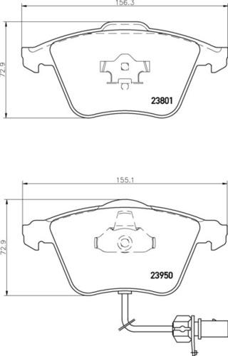 8DB 355 011-711 - Audi FR Brake Pad