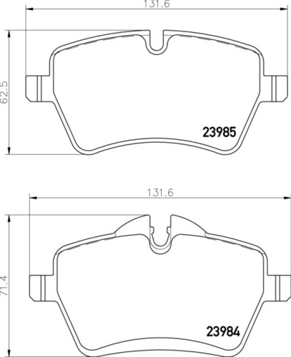 8DB 355 012-341 Mini Cooper FR Brake Pads