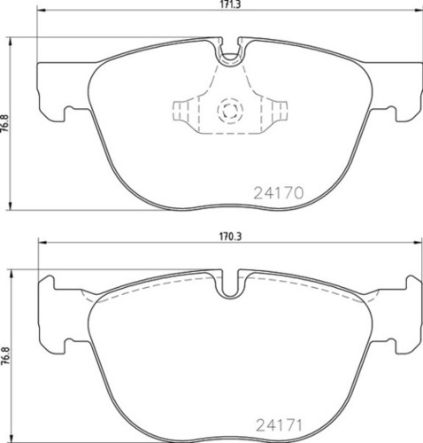 8DB 355 012-541 BMW FR Brake Pads