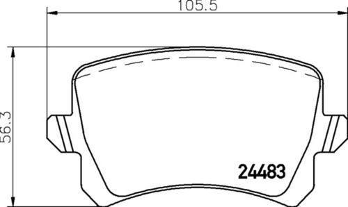 8DB 355 013-331 - Audi RR Brake Pad