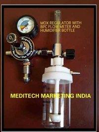 Oxygen Regulator With Bpc Flow Meter & Humidifier Bottle