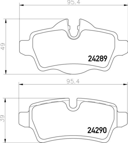 8DB 355 013-661 Mini Cooper FR Brake Pads