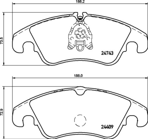 8DB 355 013-751 - Audi FR Brake Pad