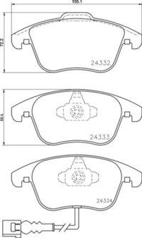 8DB 355 014-031 - Audi FR Brake Pad
