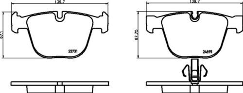 8DB 355 014-141 BMW RR Brake Pads