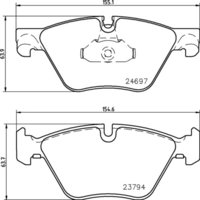 8DB 355 014-351 BMW FR Brake Pads