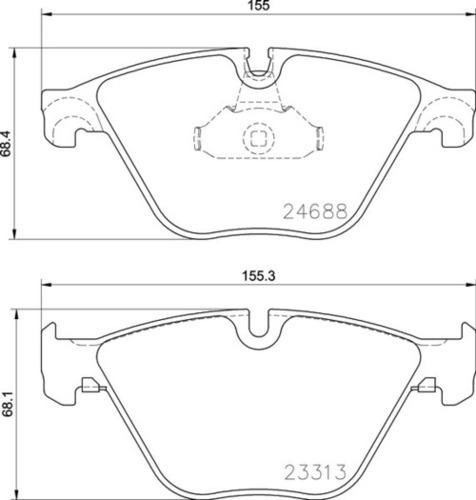 8DB 355 015-261 BMW FR Brake Pads