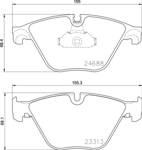 8DB 355 015-261 BMW FR Brake Pads