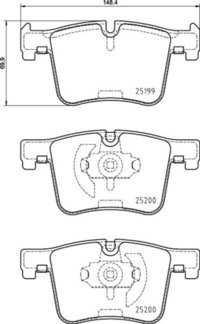 8DB 355 015-781 BMW FR Brake Pads