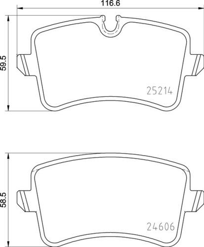 8DB 355 016-001 - Audi RR Brake Pad