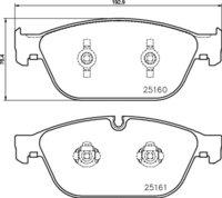 8DB 355 016-021 - Audi FR Brake Pad