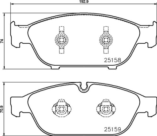 8DB 355 016-031 - Audi FR Brake Pad
